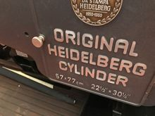 1967 Heidelberg SBG Press