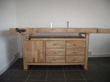 Self Assembly Rubberwood Workbe