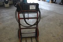 Gas welding set with hoses and