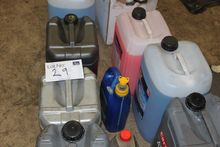 Various oils and fluids