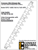 Conway Gripper Bar for Bobst SP