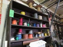 Shelf with Wire Spools