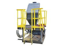 USED BAG DUMP HOPPER WITH FEEDE