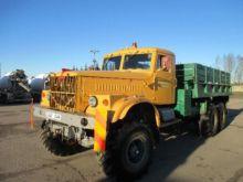 1985 KRAZ 255B1 flatbed truck
