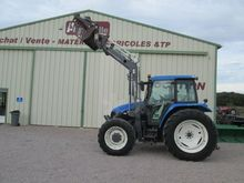2001 HOLLAND TS90 wheel tractor