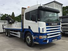 2002 SCANIA P114 flatbed truck