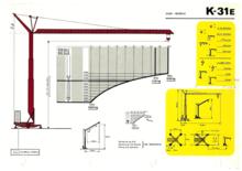 1978 KROLL K31E tower crane