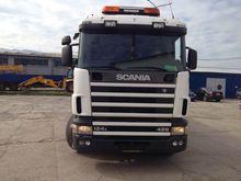 2000 SCANIA 420 flatbed truck