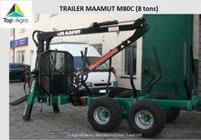 2016 Maamut M80C timber trailer