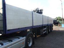 2001 FLOOR flatbed semi-trailer