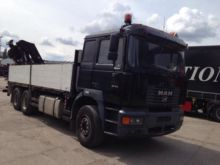 1999 MAN 26.414 flatbed truck