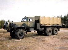 1989 KRAZ 255B flatbed truck