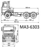 2003 MAZ 6303 chassis truck