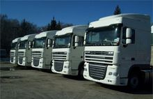 DAF XF105 Space Cab chassis tru