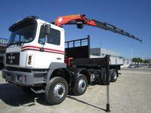 1998 MAN 35.343 flatbed truck