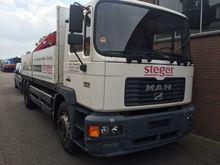 1996 MAN 18.224 flatbed truck