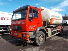 2003 MAN 18 225 fuel truck by a