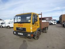 MAN L8.163 flatbed truck by auc