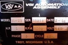 """1987 VSI M-23 5/8"""" AUTOMATION A"""