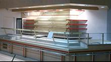 Ladder counter with 2 refrigera