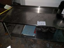 """(1) stainless steel table, 30""""x"""