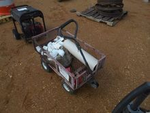 WIRE MESH WAGON W/ MISC PVC FIT