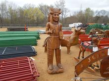 6' WOODEN INDIAN