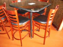 """(1) 36""""x36""""x30"""" square table wi"""