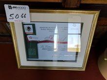 (1) framed award