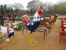 METAL ROOSTER RED, WHITE & BLUE