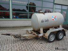 Hubiere 2-assige tankaanhangwag