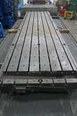 "22' X 53"" T SLOT PLANER TABLE"