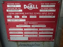 "Used DoAll 2013V 13"""