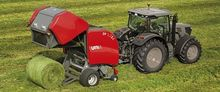Round baler with variable chamb