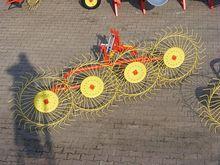Rake-tedder 5-wheeled
