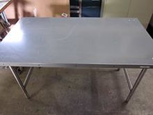 Metal Work Table (60in.x34in.x3
