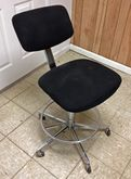 Black Lab stool (Fabric back an