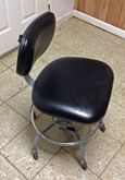 Black Laboratory Stool with Bac