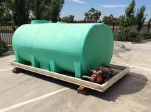 Slide in water tank on steel ba