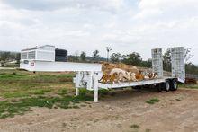 1965 Low loader plant trailer,