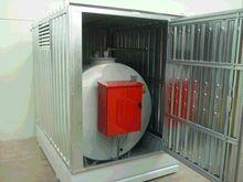 Tank truck fuel tank in box con