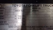 2011 Toyota 8FGCU30 LP Gas Cush