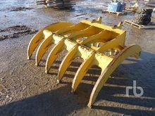 tesla Q/C 66 In. Excavator Rake