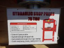 amoel 75 Ton Hydraulic Shop Pre