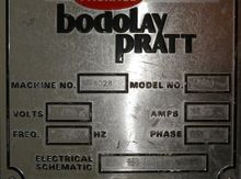 Bodalay Pratt L80 Pouch Machine