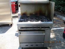 6 Burn Gas Range W/Back, Side S