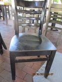 (15) Wood Frame Chairs, Slat Ba