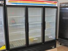 """72""""Cu.Ft. Glass Door Cooler W/3"""