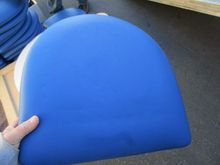 (48)Royal Blue Vinyl Ladderback
