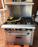 Gas 6 Burner Range/Oven, 30,000